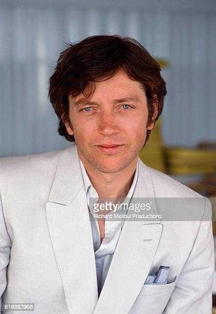 French actor Bernard Giraudeau is in Cannes France for the 1984 Cannes Film Festival