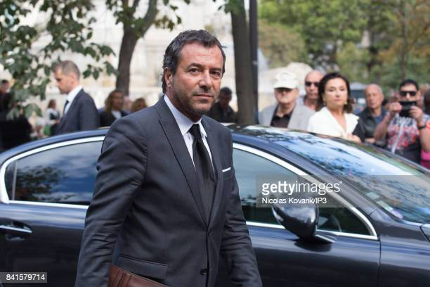 French Actor Bernard Montiel attends Mireille Darc's Funeral at Eglise Saint Sulpice on September 1 2017 in Paris France French actress died aged of...