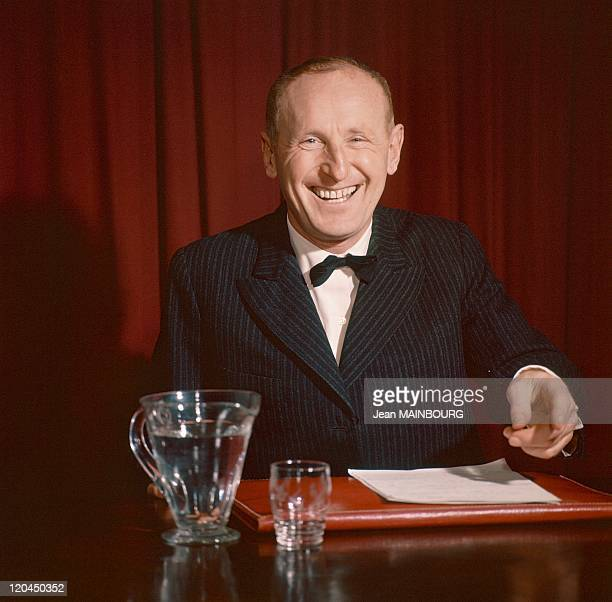French actor Bourvil in France towards 19601965
