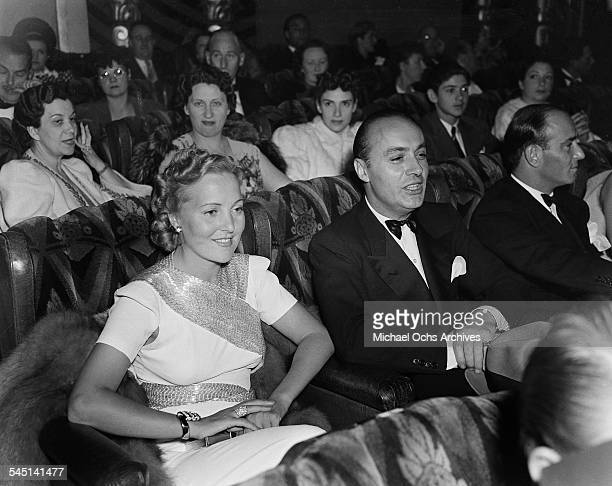 French actor Charles Boyer and wife Pat Paterson attend an event in Los Angeles California