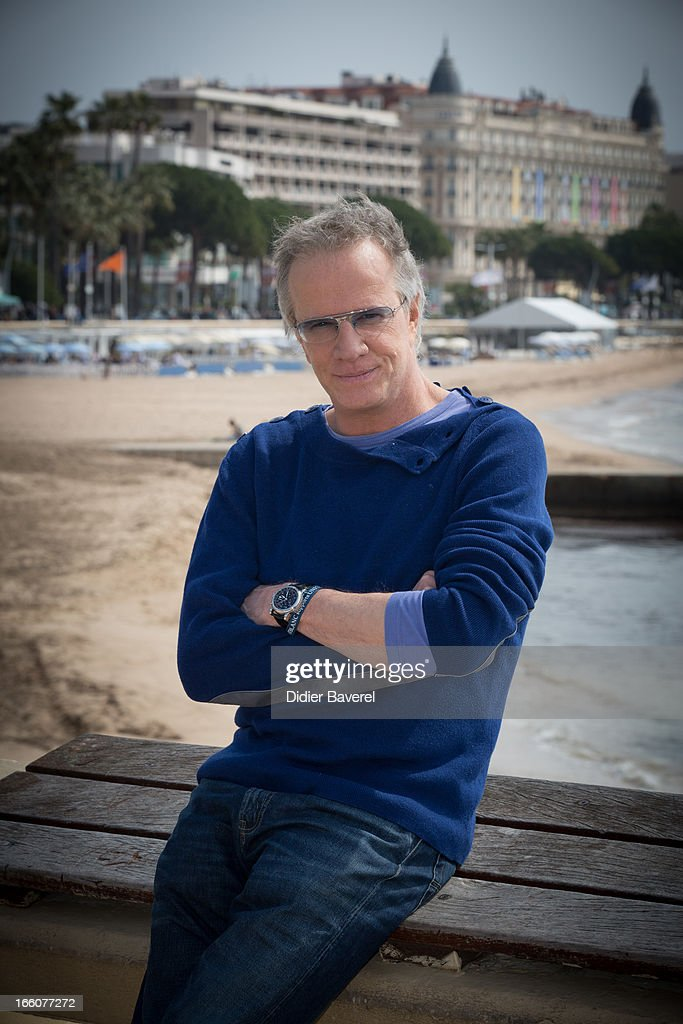 French actor Christophe Lambert poses during a photocall for the tv series'La Source' at MIP TV 2013 on April 8 2013 in Cannes France