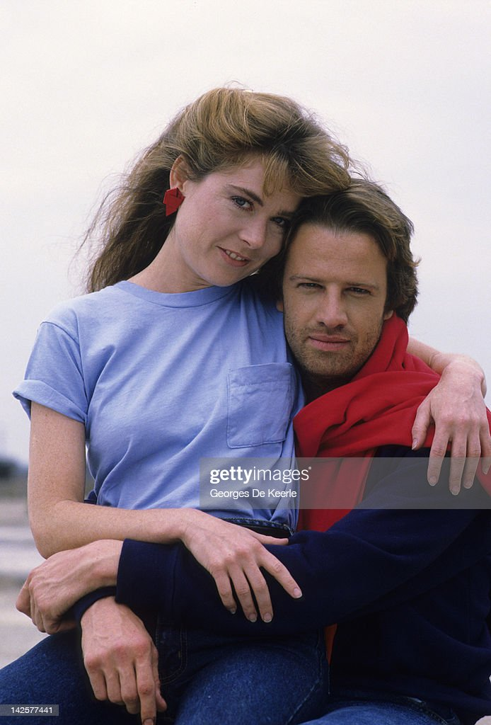 French actor <a gi-track='captionPersonalityLinkClicked' href=/galleries/search?phrase=Christopher+Lambert&family=editorial&specificpeople=240500 ng-click='$event.stopPropagation()'>Christopher Lambert</a> and Roxanne Hart pose on a portrait session, Great Britain, June 1985.