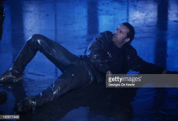 French actor Christopher Lambert on set of 'Highlander' directed by Russell Mulcahy Great Britain June 1985