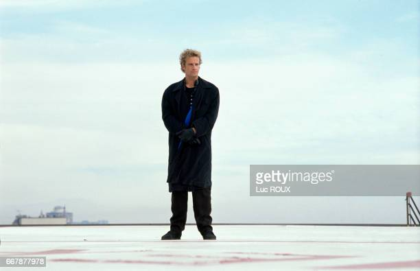 French actor Christopher Lambert on the set of Why Me directed by Gene Quitano