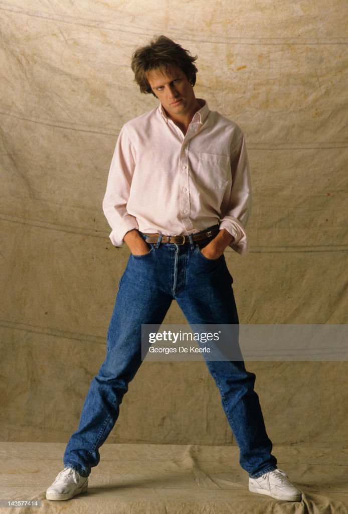 French actor Christopher Lambert poses on a portrait session Great Britain June 1985
