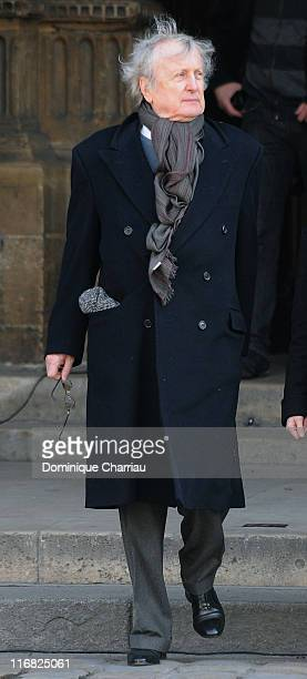 French actor Claude Rich attends singer Alain Bashung's funeral at SaintGermaindesPres church on March 20 2009 in Paris France