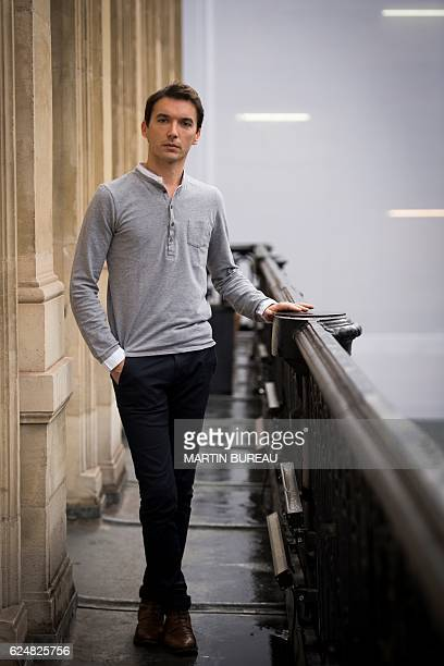 French actor Clement HervieuLeger poses for portraits at La Comedie Francaise theatre on November 21 2016 in Paris / AFP / MARTIN BUREAU
