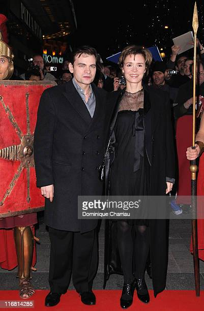French Actor Clovis Cornillac with guest attend Asterix At The Olympic Games Paris Premiere at the Gaumont Marignan Champs Elysees on January 13 2008...