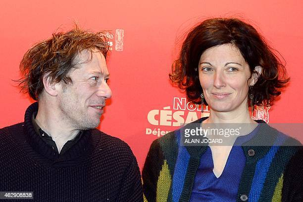 French actor director and screenwriter Mathieu Amalric and French screewriter Stephanie Cleau both nominated for the French cinema Cesar Award for...