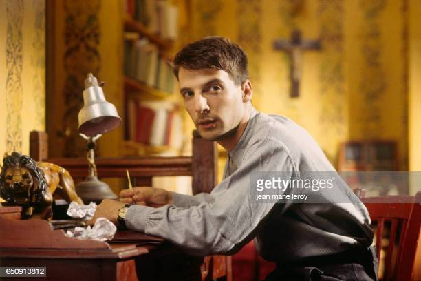 French actor director screenwriter and producer Mathieu Kassovitz on the set of 'Un Heros Tres Discret' by French director and screenwriter Jacques...