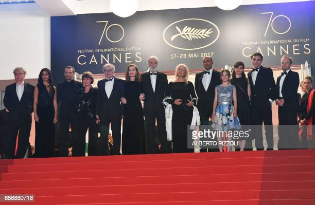 French actor Dominique Besnehard French actress Nabiha Akkari French actor Mathieu Kassovitz French actor JeanLouis Trintignant and his wife Marianne...