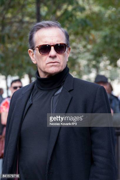French Actor Francis Huster attends Mireille Darc's Funeral at Eglise Saint Sulpice on September 1 2017 in Paris France French actress died aged of...