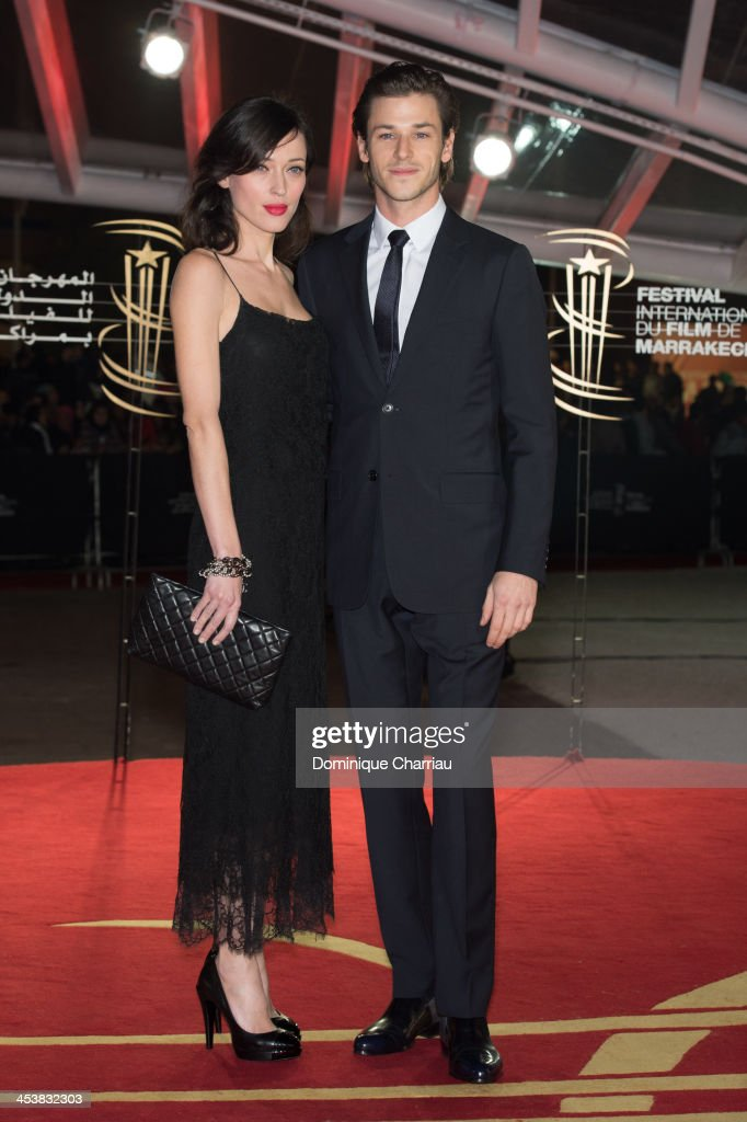 French actor <a gi-track='captionPersonalityLinkClicked' href=/galleries/search?phrase=Gaspard+Ulliel&family=editorial&specificpeople=241206 ng-click='$event.stopPropagation()'>Gaspard Ulliel</a> (R) and friend attend the 'Fernando Solanas' Trbute during the 13th Marrakech International Film Festival on December 5, 2013 in Marrakech, Morocco.