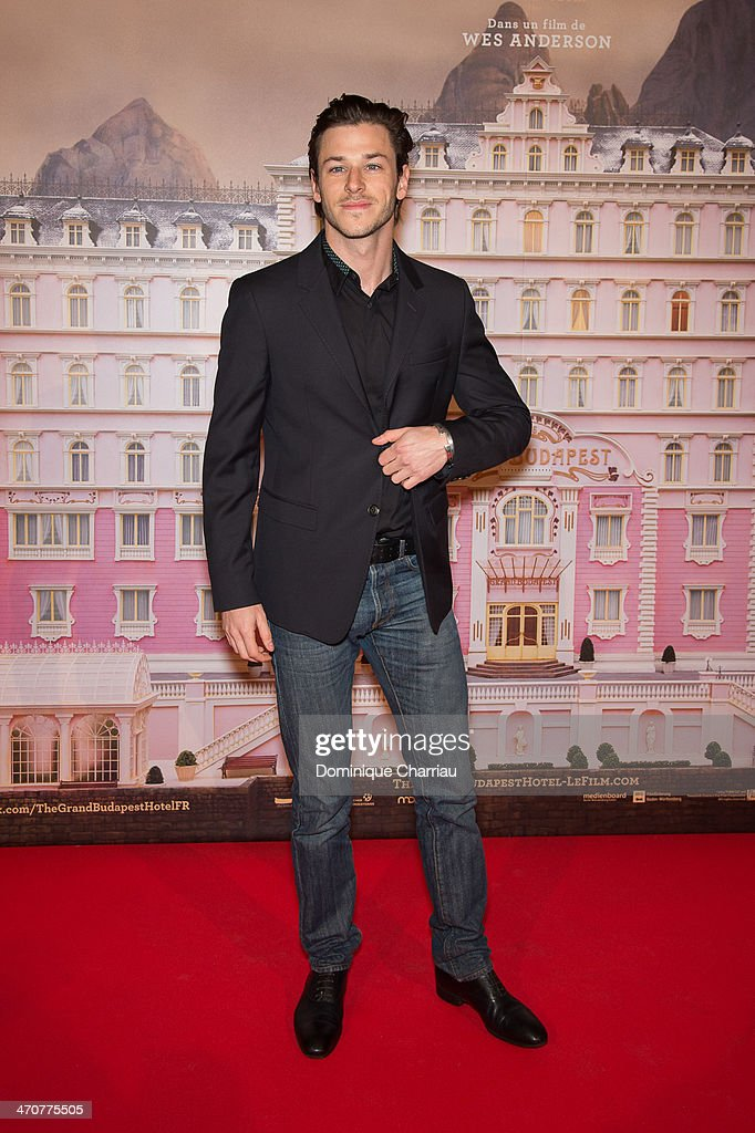 French Actor <a gi-track='captionPersonalityLinkClicked' href=/galleries/search?phrase=Gaspard+Ulliel&family=editorial&specificpeople=241206 ng-click='$event.stopPropagation()'>Gaspard Ulliel</a> attends the 'The Grand Budapest Hotel' Paris Premiere at Cinema Gaumont Opera on February 20, 2014 in Paris, France.