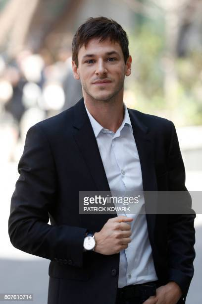 French actor Gaspard Ulliel poses during the photocall before Chanel 20172018 fall/winter Haute Couture collection show in Paris on July 4 2017 / AFP...