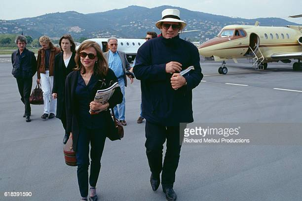 French actor Gerard Depardieu and his wife Elisabeth arrive at Cannes airport ahead of the Cannes Film Festival Depardieu is this year's Cannes...