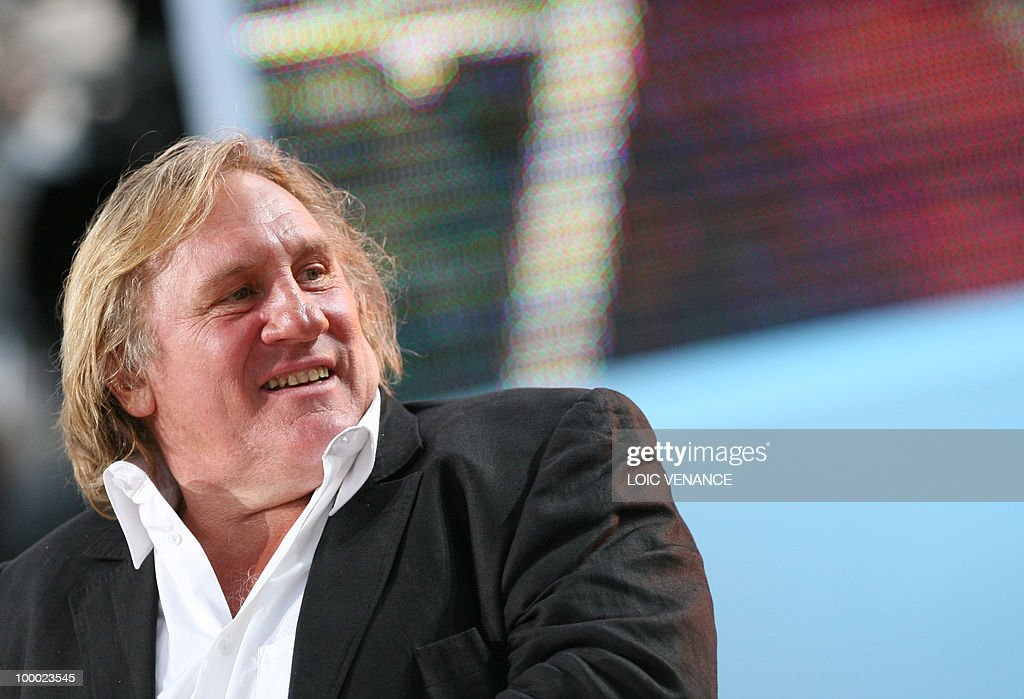 French actor Gerard Depardieu attends the Canal+ TV show 'Le Grand Journal' during the 63rd Cannes Film Festival on May 20, 2010 in Cannes.