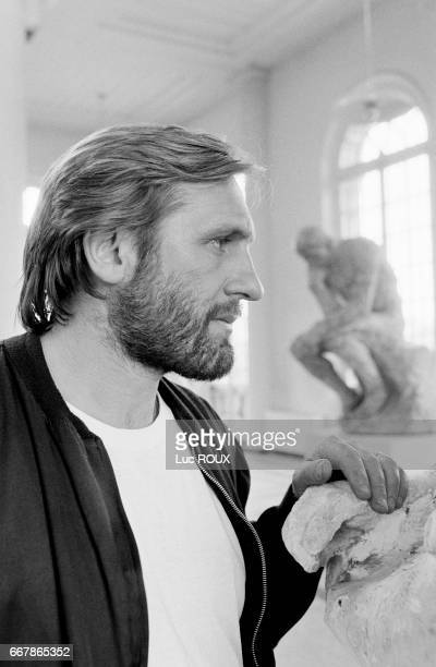 French actor Gerard Depardieu during the filming of the Bruno Nuytten movie Camille Claudel in which he played the role of French sculptor Auguste...