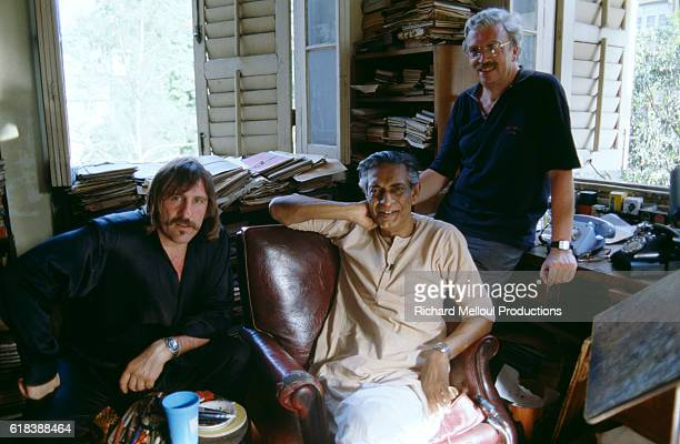 French actor Gerard Depardieu Indian film director Satyajit Ray and French movie producer Daniel Toscan du Plantier Ray is the preeminent filmmaker...