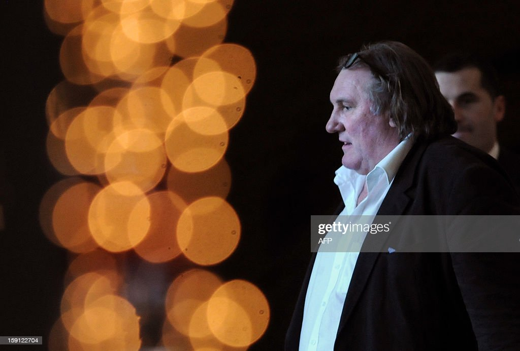 French actor Gerard Depardieu is seen in the luxurious Hotel Splendid, near Budva on the Adriatic coast of Montenegro on January 8, 2013. Depardieu spurned a Paris drunk driving court appearance and instead went to Montenegro to prepare a film in which the larger-than-life French star will play Dominique Strauss-Kahn. AFP PHOTO / SAVO PRELEVIC