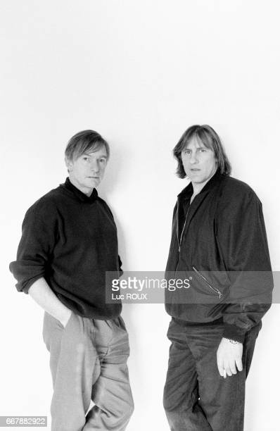 French actor Gerard Depardieu with Australian director and screenwriter Peter Weir in New York for the filming of his movie Green Card.