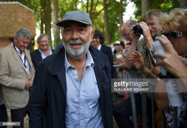 French actor Gerard Jugnot arrives at the 22th La Foret Des Livres book fair on August 27 2017 in ChanceauxpresLoches central France La Foret Des...