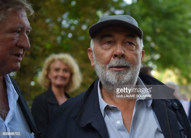French actor Gerard Junot arrives at the 22th La Foret Des Livres book fair on August 27 2017 in ChanceauxpresLoches central France La Foret Des...