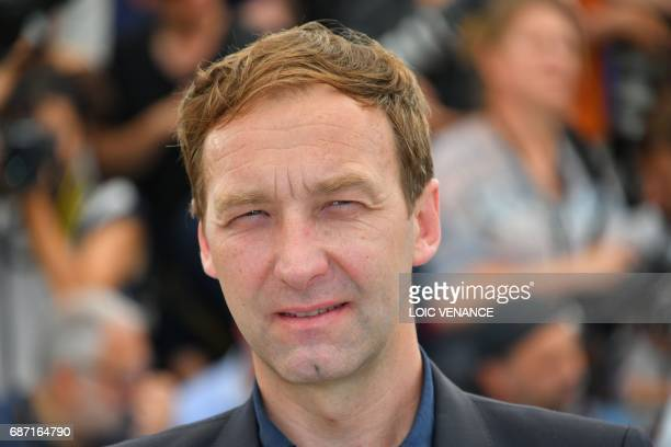 French actor Gregoire Monsaingeon poses on May 23 2017 during a photocall for the film 'Jeune Femme' at the 70th edition of the Cannes Film Festival...