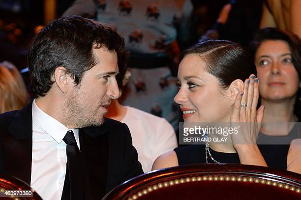 French actor Guillaume Canet and his partner French actress Marion Cotillard attend the 40th edition of the Cesar Awards ceremony on February 20 2015...