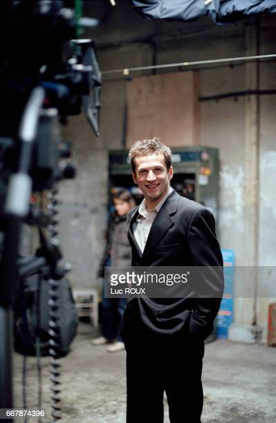 French actor Guillaume Canet on the set of the film Les Morsures de l'Aube (Love Bites), by French actor and director Antoine de Caunes.