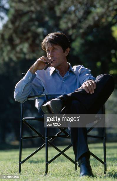 French actor Jacques Dutronc on the set of the film Toutes Peines Confondues directed by Michel Deville