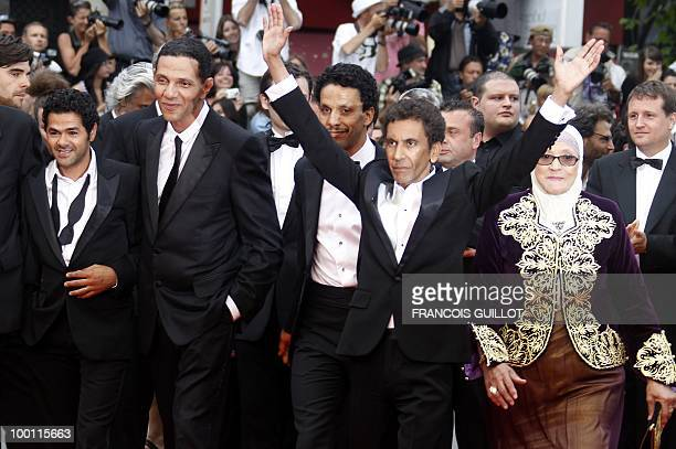 French actor Jamel Debbouze French actor Roschdy Zem French actor Sami Bouajila French director Rachid Bouchareb and actress Chafia Boudraa arrive...
