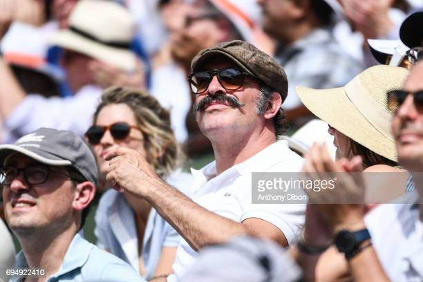 French actor Jean Dujardin during the day 15 of the French Open at Roland Garros on June 11 2017 in Paris France