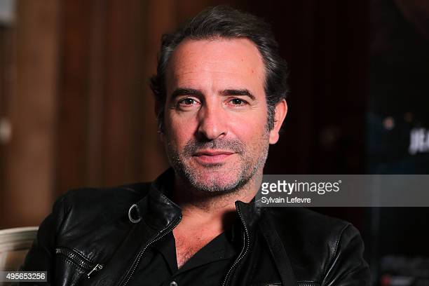 French actor Jean Dujardin poses during photo session for film 'Un Une' on November 4 2015 in Lille France