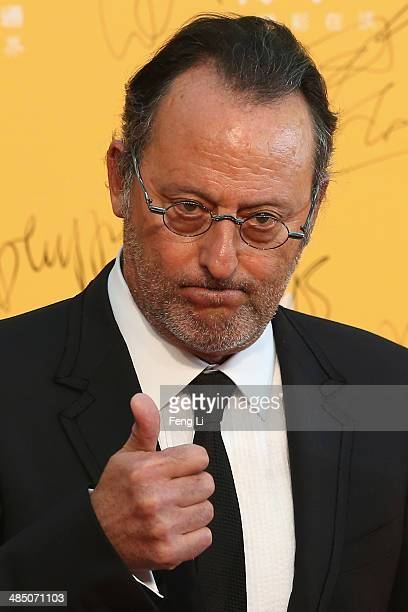 French actor Jean Reno arrives for the red carpet of 4th Beijing International Film Festival at China's National Grand Theater on April 16 2014 in...