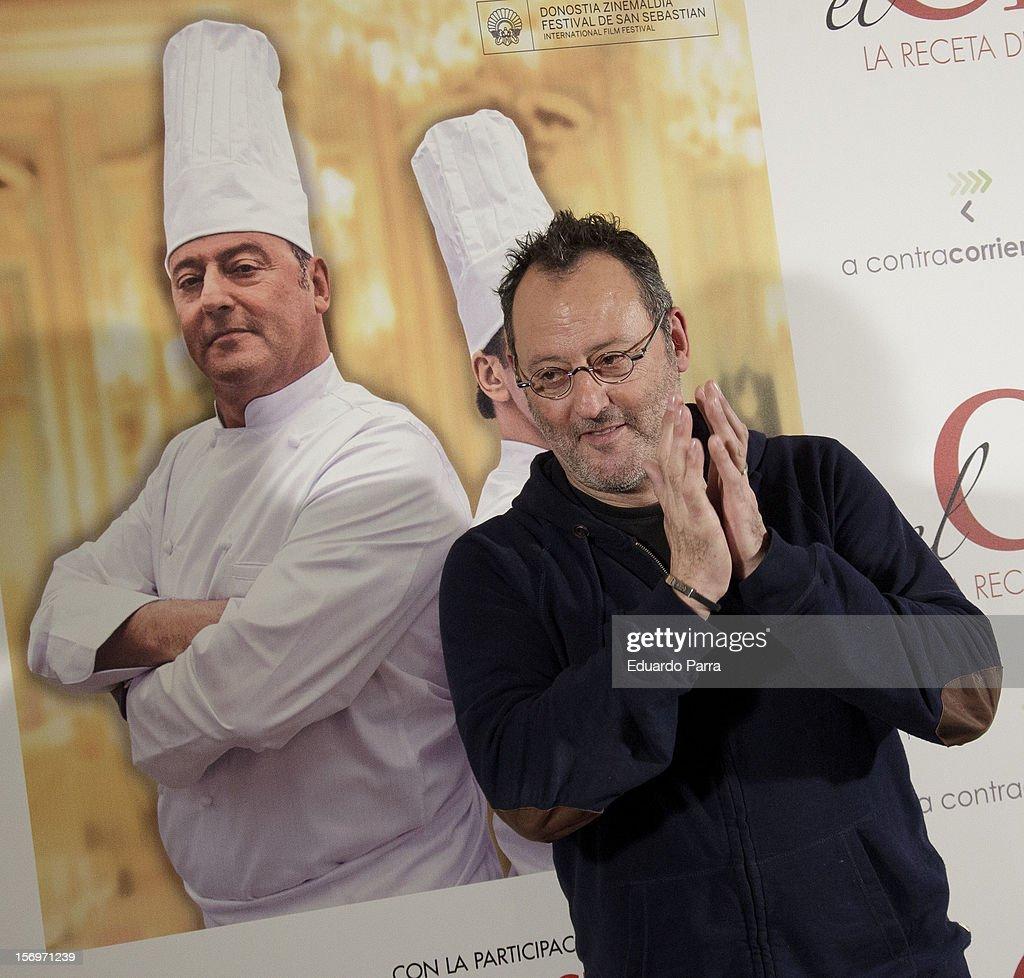 French actor Jean Reno attends 'El Chef, la receta de la felicidad' ('Comme un chef') photocall at Intercontinental hotel on November 26, 2012 in Madrid, Spain.