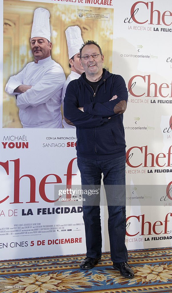 French actor Jean Reno attends 'El Chef, la receta de la felicidad' ('Comme un chef') photocall at Intercontinental hotel on November 26, 2012 in Madrid, Spain.