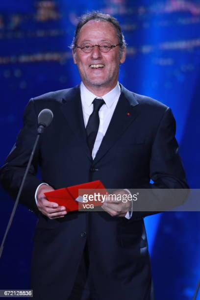 French actor Jean Reno attends the closing ceremony of 2017 Beijing International Film Festival on April 23 2017 in Beijing China