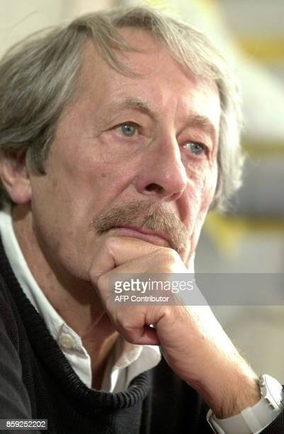 French actor Jean Rochefort is pictured during an interview at the 17th International Francophone Film Festival at the Royal Theatre in Namur 28...