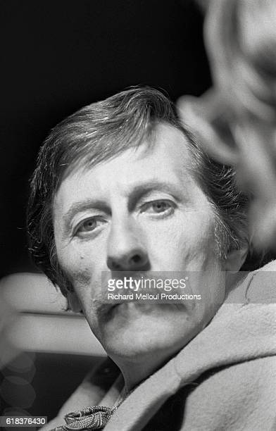 French actor Jean Rochefort on the set of the 1976 film Un Elephant ca Trompe Enormement The film directed by Yves Robert also starred Guy Bedos and...