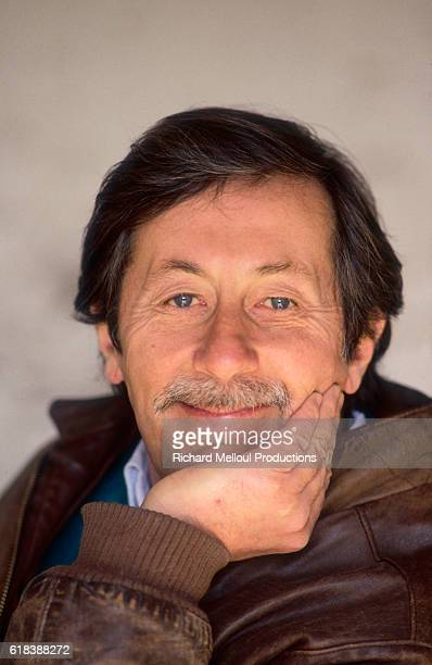 French actor Jean Rochefort relaxes at home in Raizeux