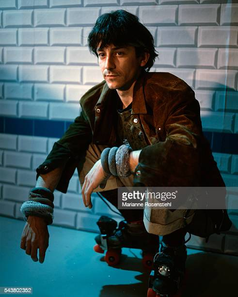 French actor JeanHugues Anglade on the set of Subway by French director and producer Luc Besson