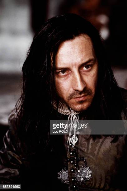 French actor JeanHugues Anglade on the set of the 1994 film La Reine Margot directed by Patrice Chereau