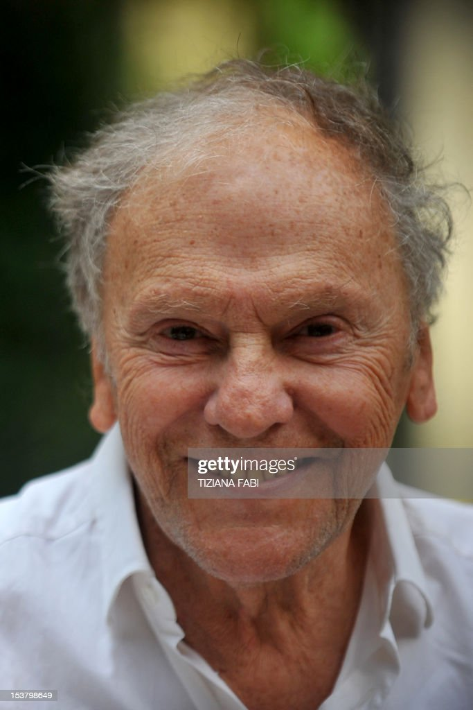 French actor Jean-Louis Trintignant poses during a photocall for 'Amour' on October 9, 2012 in Rome. 'Amour' a film by Austrian film director Michael Haneke with French actress Emmanuelle Riva and actor Jean-Louis Trintignant won the Palme d'Or at the 2012 Cannes film festival. AFP PHOTO / TIZIANA FABI