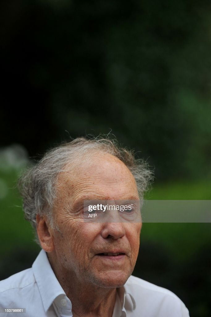 French actor Jean-Louis Trintignant poses during a photocall for 'Amour' on October 9, 2012 in Rome. 'Amour' a film by Austrian film director Michael Haneke with French actress Emmanuelle Riva and actor Jean-Louis Trintignant won the Palme d'Or at the 2012 Cannes film festival.