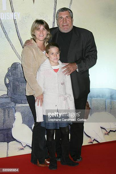 French actor JeanPierre Castaldi with his wife and their daughter