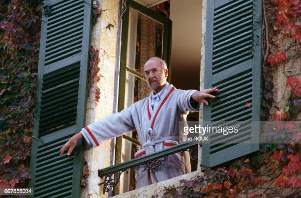 French actor JeanPierre Marielle on the set of the film Le Sourire directed by Claude Miller