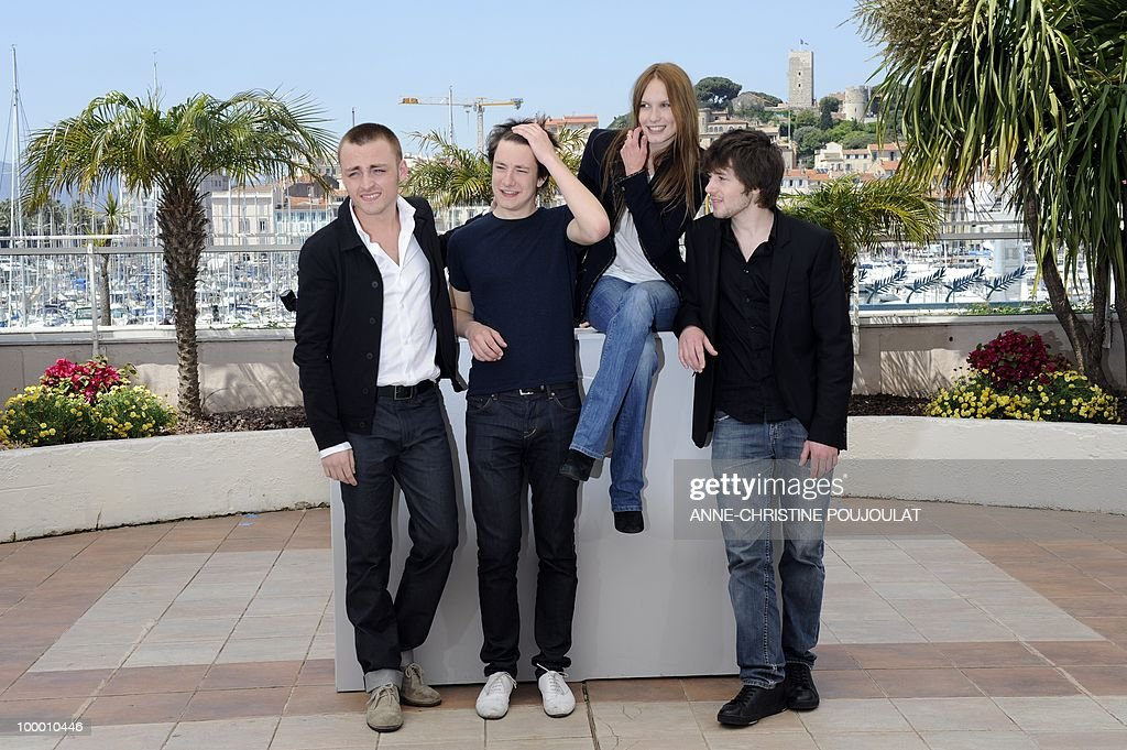 French actor Jules Pelissier, actor Yvan Tassin, French actress Ana Girardot and French actor Laurent Delbecque pose during the photocall 'Simon Werner a Disparu' (Lights Out) presented in the Un Certain Regard selection at the 63rd Cannes Film Festival on May 20, 2010 in Cannes.
