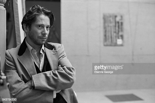 French actor Mathieu Amalric on the set of the film 'Le Scaphandre et le Papillon' directed by American artist painter and director Julian Schnabel...
