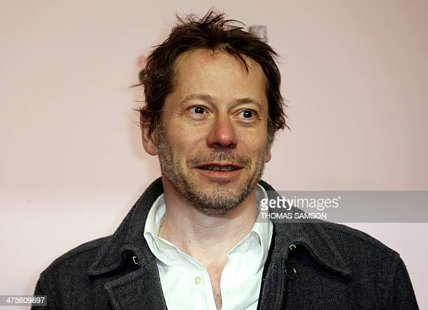 French actor Mathieu Amalric poses as he arrives for the 39th edition of the Cesar awards ceremony in Paris on February 28 2014 AFP PHOTO / THOMAS...